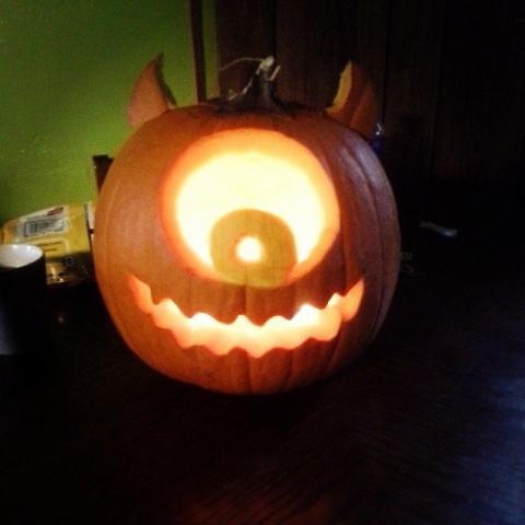 Mike-Wazowski Pumpkin