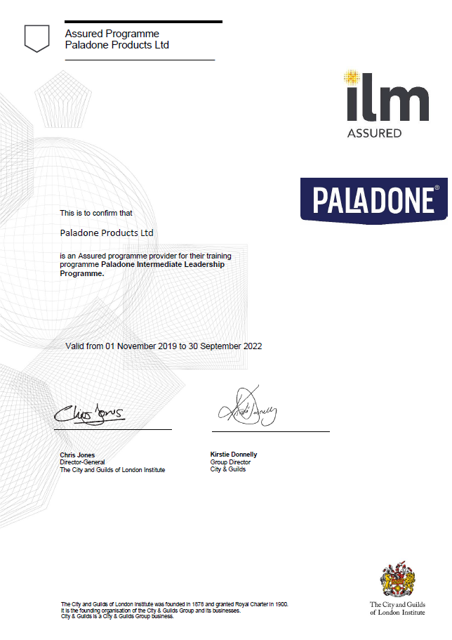 ILM Assured Programme awarded to Paladone