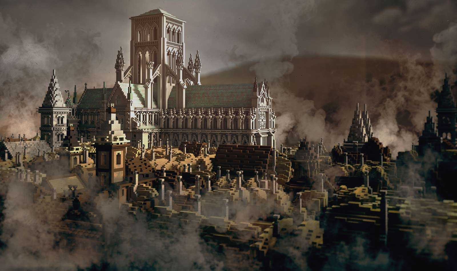 The Museum of London replicated the Great Fire of London in Minecraft