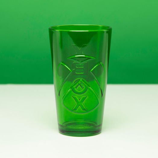 Xbox Shaped Glass