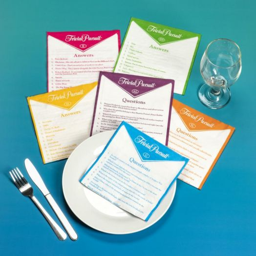 Trivial Pursuit Napkins