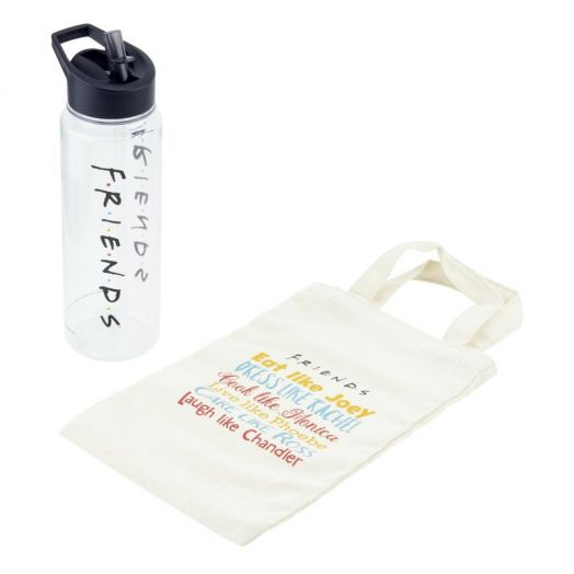 Friends Water Bottle and Tote Gift Set