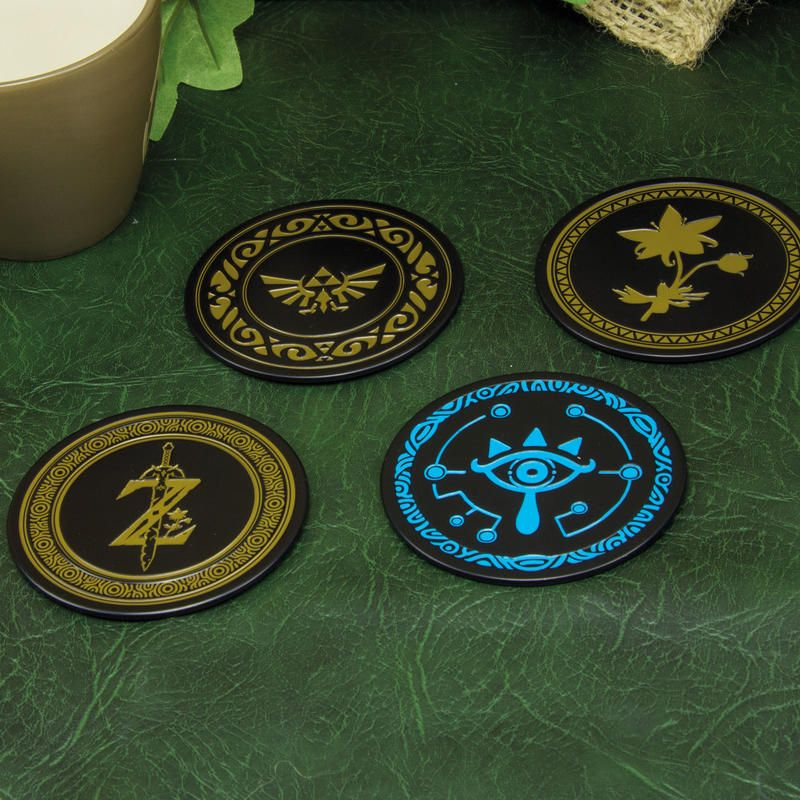 Paladone Breath of the Wild The Legend of Zelda SEALED 4 Metal Coasters