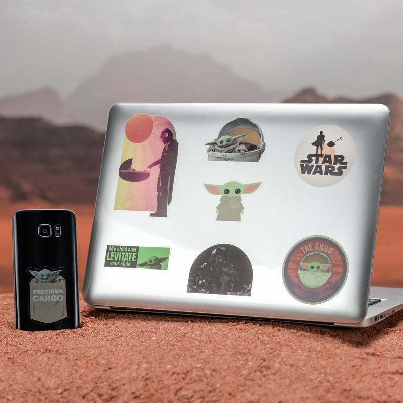 The Child Gadget Decals Licensed Star Wars Mandalorian Stickers